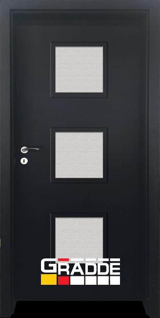 Интериорна HDF врата, модел Gradde Bergedorf, Орех Рибейра