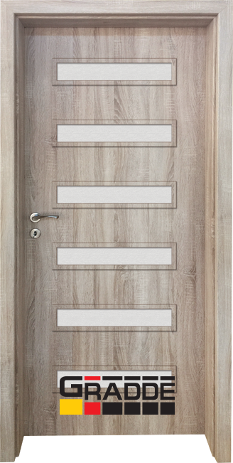 Интериорна HDF врата, модел Gradde Schwerin, Дъб Вераде
