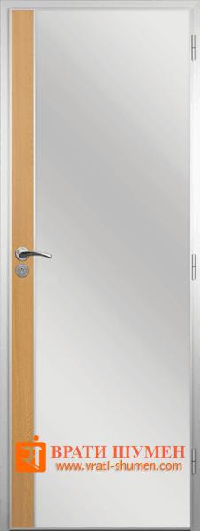 Алуминиева врата за баня с лайна, Светъл Дъб