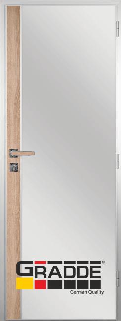 Алуминиева врата за баня с лайсна, Дъб Вераде