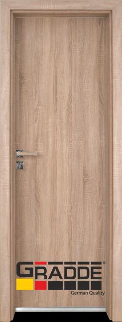 Алуминиева врата за баня – GRADDE цвят Дъб Вераде