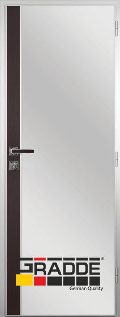 Алуминиева врата за баня с лайсна, Орех Рибейра