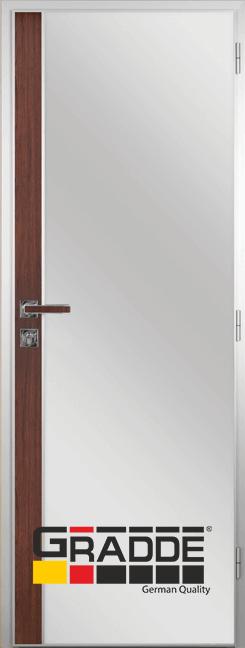 Алуминиева врата за баня с лайсна, Шведски дъб