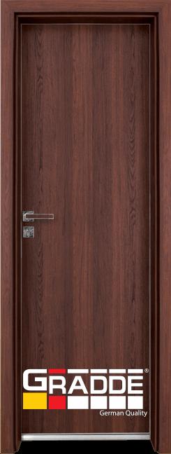 Алуминиева врата за баня – GRADDE цвят Шведски Дъб