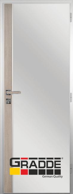 Алуминиева врата за баня с лайсна, Ясен Валинга