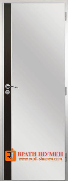 Алуминиева врата за баня с лайсна, Венге