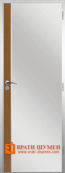 Алуминиева врата за баня с лайсна, Златен дъб