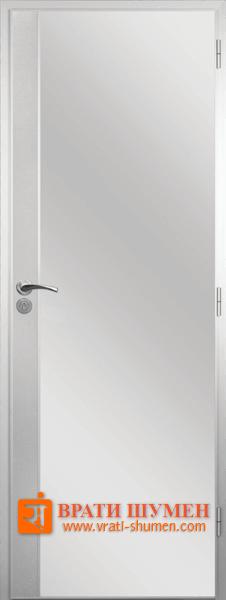 Алуминиева врата за баня с метална лайсна